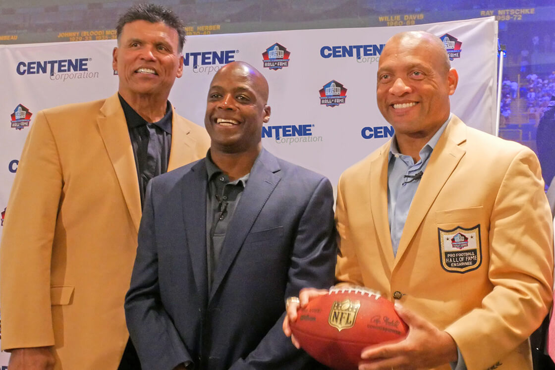 Anthony Munoz, Darrell Green and Aeneas Williams