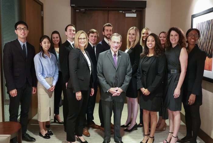 group of interns pictured with Centene CEO