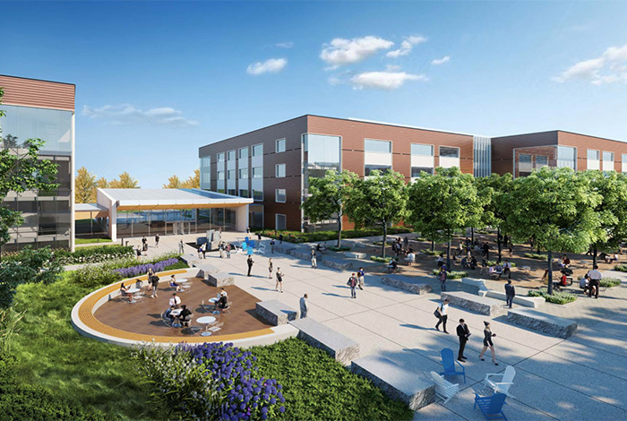 New campus rendering in Sacramento California