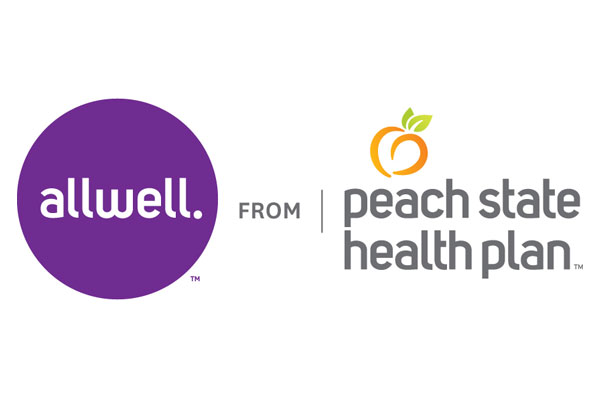 Logo of Allwell from Peach State Health Plan a healthcare program of Centene Corporation