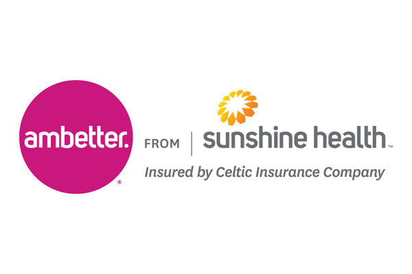 Logo of Ambetter from Sunshine Health a healthcare program of Centene Corporation