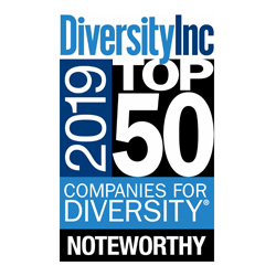 Diversity Inc. Top 50 Companies for Diversity Noteworthy logo