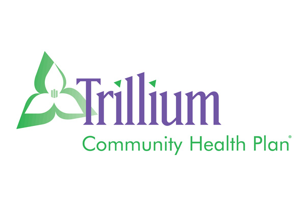 Logo of Trillium Community Health Plan a healthcare program of Centene Corporation